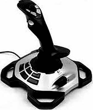 The joystick manipulator is the primary device for managing multiple computer games