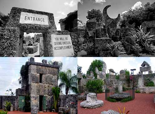 Coral castle is a complex of huge statues and megaliths weighing 1100 tons, built by hand, without the use of machines