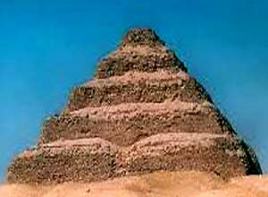 The prototype of the pyramid of Djoser became the huge mastabas of the pharaohs of the first dynasty, built from raw bricks