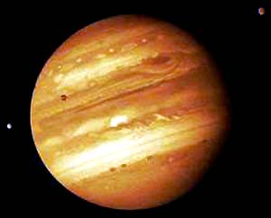 The Jupiter is a giant among the planets